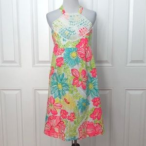 Lilly Pulitzer Floral Halter Dress 6